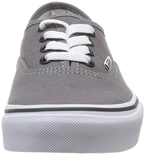 Vans K Authentic, Baskets mode mixte enfant Gris (Pewter/Black)