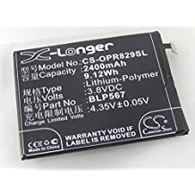vhbw Li-Polymer batería 2400mAh (3.8V) para Smartphone, teléfono móvil Oppo R1, R1L, R1S, R8000, R8006, R8007, R829, R829T por BLP567.