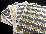 120 pièces/lot (5 Feuilles) Bricolage Vintage Coin Kraft Stickers Papier pour Les Albums Photo Cadre décoration Scrapbooking