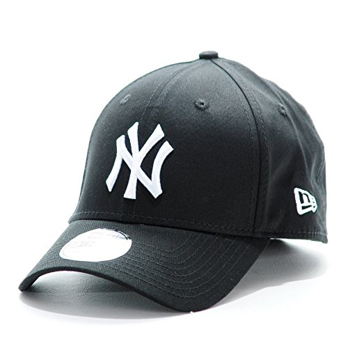 New Era Mlb Basic Ny Yankees 39Thirty Stretch Back Scarlet - Casquette de Baseball - Homme Multicolore (Black/White)