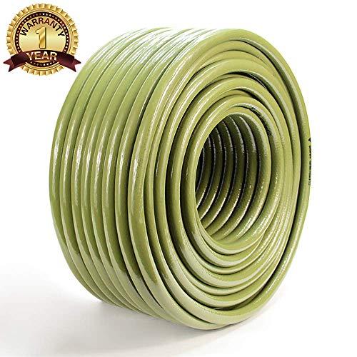Worth Garden Tubo Flessibile dell'Acqua da 50 m Tubo da Giardino e ugello spruzzatore da 1/2' Set Tubo da Esterno a 3 Strati Leggero e Resistent