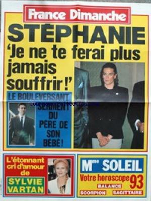 AFFICHE DE PRESSE - STEPHANIE DE MONACO - LE SERMENT DU PERE DE SON BEBE - SYLVIE VARTAN.