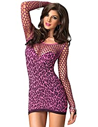 Leg Avenue Lingerie Collection Universal Fuchsia Seamless Leopard Mini Dress
