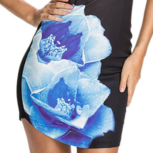 ABILIO - vestito donna minivestito scollatura cuore abito festa vestitino elegante party Nero