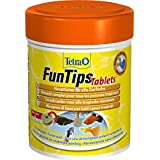 Tetra FunTips Tablets Haft-Futtertabletten (Hauptfutter, haftet an der Scheibe, zum Fische beobachten, natürliche Verstärkung der Farbenpracht), 165 Tabletten Dose