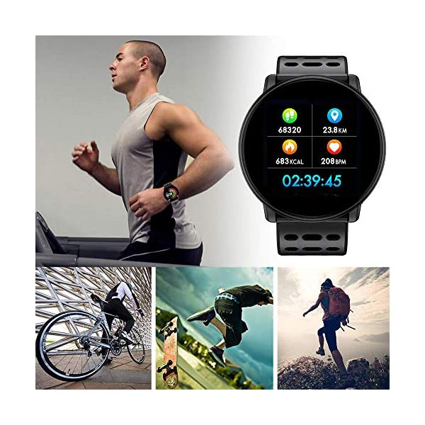 TDOR Smartwatch con Whatsapp Hombre Mujer Reloj Inteligente Android iOS Deportivo, Color Negro 6