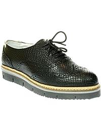 BARI18 - Damen Schuhe Schnürer Sneaker - 2220-black, Größe:39 EU Post Xchange
