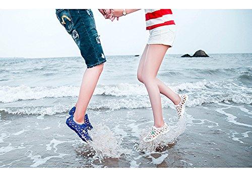 Minetom Unisex Estate Casual Hollow Out Piatto Sandali Multicolore Infradito Pantofole Morbido Pioggia Scarpe Spiaggia Verde