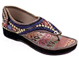 Shree Women's Rajasthani Multiwork Ethnic Flat Sandal