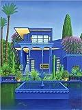 Posterlounge Acrylglasbild 90 x 120 cm: Garten von Majorelle, Marrakesch von Larry Smart/Bridgeman Images - Wandbild, Acryl Glasbild, Druck auf Acryl Glas Bild