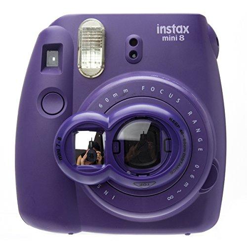 CAIUL Close Up Lens Selfie Portrait pour Appareils photo de Fujifilm Instax Mini 8 8+ 9 7s et Polaroid 300(Violet)