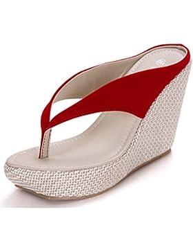 Donalworld Frauen-Sommer-Strand-Schuhe T-Bügel-starke alleinige Sandalen Flip Flops Wedges Sandalen