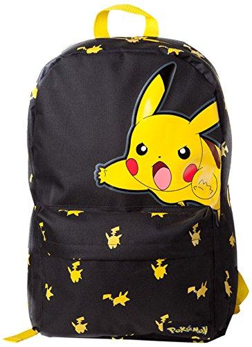 Price comparison product image Bioworld Pokemon Big Pikachu Print Casual Daypack, 45 cm, 15 Litre, Black