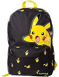 Bioworld POKEMON Pikachu Big Imprimer sac à dos à dos, 45 cm, 15 litres, noir (noir)