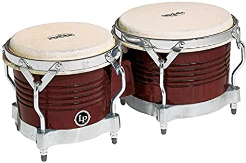 Latin Percussion LP811006 Matador Wood Bongos - Almond Brown/Chrome