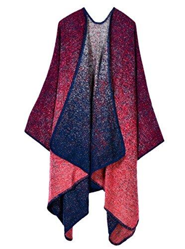 Aivtalk - Mujer Poncho Punto Cárdigan Suave Elegante