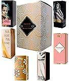 Set di 6 (sei) Profumo per le Donne 15ml ogni. (Eau de Parfum/Eau de Toilette) Vip Edition. In confezione regalo ORGANITERRA®