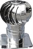 windgetriebener Dachventilator mit Platte - Rohrdurchmesser 120 mm