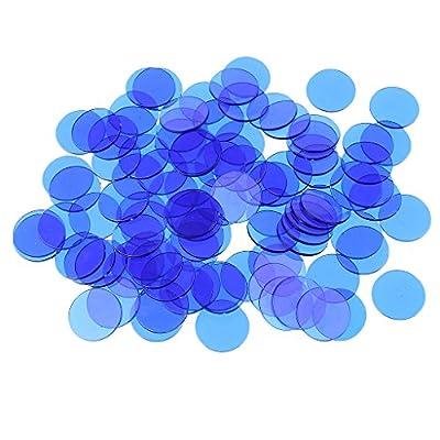 Sharplace 500pcs Jeton Fiche Bingo Chips 1,9 cm en Plastique Translucide pour Jeu de Société Pocker Casino