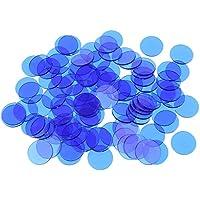 Sharplace Bingo Chip Translúcido para Juegos de Bingo 100/300/500 Piezas - Azul, 500 Piezas