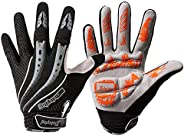 Full Finger Workout Gloves Gym Exercise Half Finger Fitness Gloves Heavy Weight Lifting Leather Palm Protectio