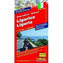 Motomap Ligurien 1 : 275 000 / 1 : 650 000: Die schönsten Strecken mit Sehenswürdigkeiten und Herbergen. GPS-Daten: Gratis Download der Motorradtouren (Hallwag Freizeitkarten)