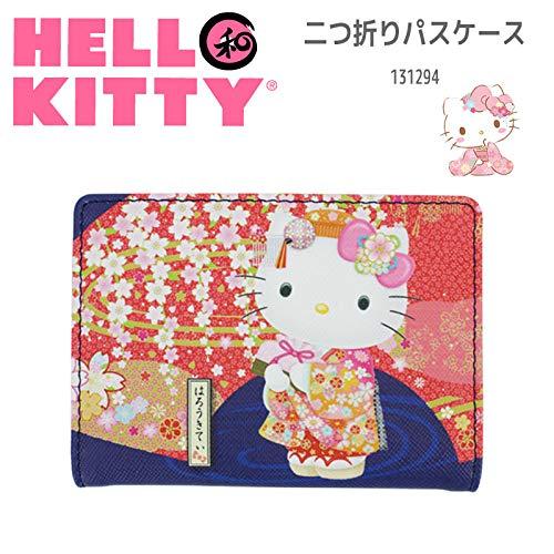 Sanrio Hello Kitty Bus-Ausweishülle für Karten, Motiv: Kitty Japanischer Kimono und Weeping Cherry Sakura 06 -