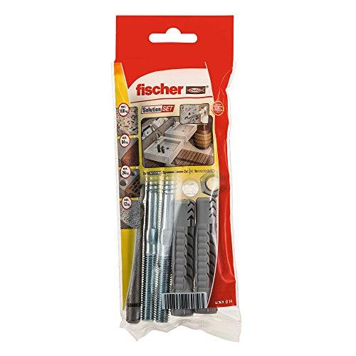 Fischer 538063 Montageset Waschtischbefestigung, Dübel und Schrauben Set, 9 Teile