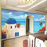 Tsqqst Fototapete 3D Große Wandgemälde Wohnzimmer Tv Hintergrundbild Schlafzimmer Restaurant Tapete Computer Handbemalt Mittelmeer Ölgemälde
