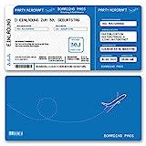 (20 x) Einladungskarten Geburtstag Flugticket Ticket Karte Einladungen in Blau