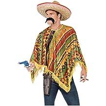 Poncho mexicano con barba