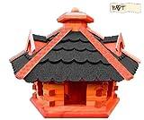 Vogelhaus, Futterhaus mit Ständer , 53 cm Dach schwarz, wetterfest