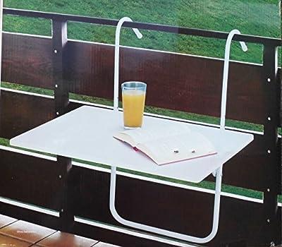 Balkontisch Tisch Balkon Balkonklapptisch weiß