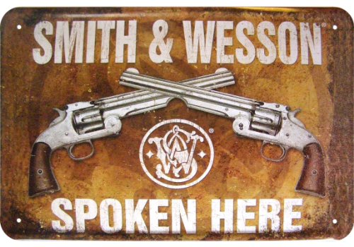 smith-wesson-spoken-here-motif-revolver-decorative-tin-sign
