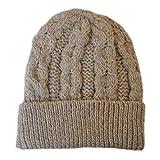 100% Merino Wolle Aran Handwerk Honeycomb Mütze Pastinake