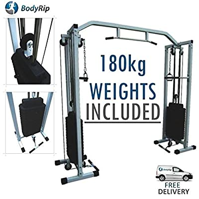 BodyRip Power Cable Crossover Machine and 180kg weights included by BodyRip