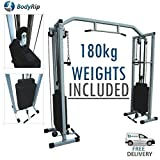 BodyRip Power Cable Crossover Machine and 180kg weights included