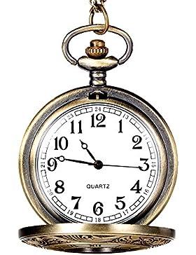 Jahrgang Bronze Ton Spinne Web Entwurf Kette Anhänger Uhr HARRYSTORE Herren Tasche Uhr (E)