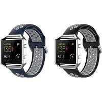Chainfo Bracelet de Montre Compatible avec Fitbit Blaze, Bracelet Respirable de Montre-Bracelet de Silicone