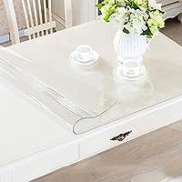 Yazi transparente mantel impermeable PVC mantel para mesa para salón cocina  cuadrado 80 x 80 cm b24bfda67d3