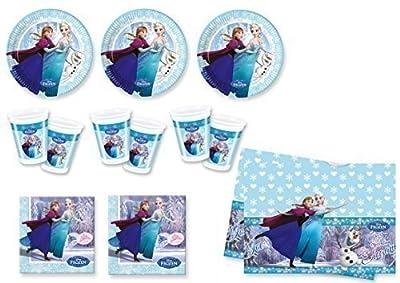 Frozen Ice Skating - Partyset (24 platos, 24 vasos, 40 servilletas, 1 mantel) por Procos