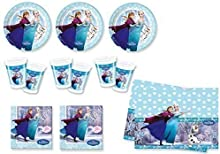 Frozen Ice Skating - Partyset (24 platos, 24 vasos, 40 servilletas, 1 mantel)