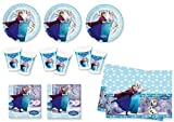 Frozen Ice Skating - Partyset (24 platos, 24 vasos, 40 servilletas, 1 mantel)