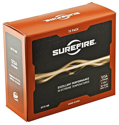 Surefire 72 Pack 123A Lithium Batteries Surefire Batterie