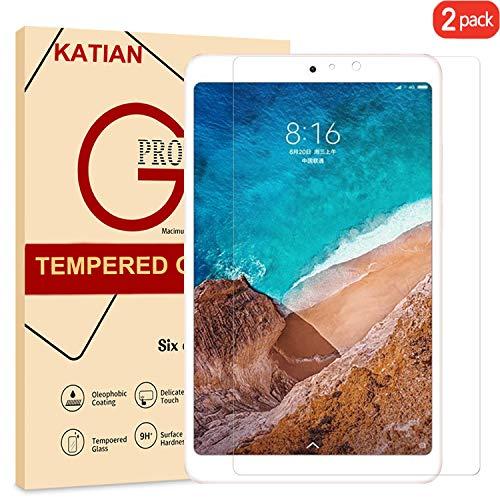[2-Stück] Xiaomi Mi Pad 4 Panzerglas Schutzfolie, KATIAN 2.5D Panzerfolie 9H Gehärtetem Glass [Anti-Kratzen][Anti-Bläschen][Fingerabdruck-frei] HD Displayschutzfolie für Xiaomi Mi Pad 4