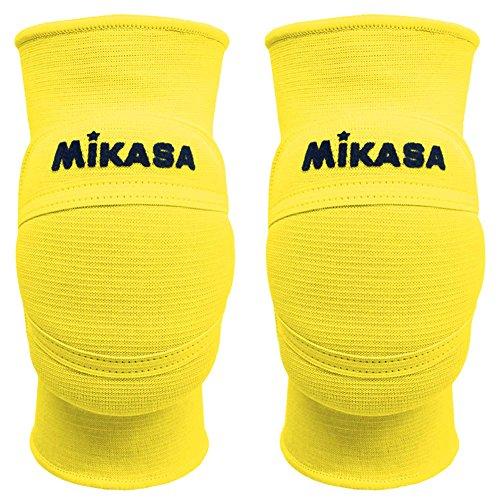 Mikasa MT8 Premier coppia ginocchiere volley pallavolo giallo fluo (XL)