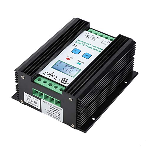 12V 200W/300W 30A Hybrid Solar Wind Charge Controller Solarladeregler PMW Laderegler Windladeregler Solar Ladegerät Controller mit LCD Display und Lastausgang 30a Digital Charge Controller