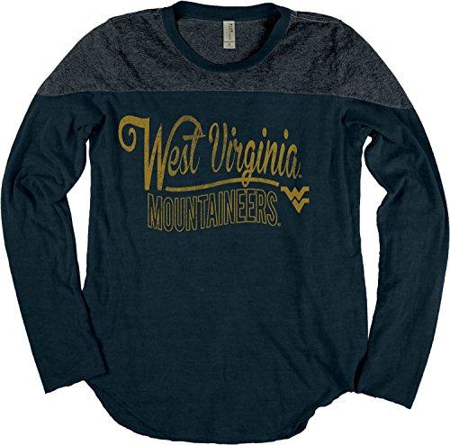 Blue 84 NCAA West Virginia Mountaineers NCAA Damen Langarm-Shirt, langärmelig, Gr. L, Indigo -