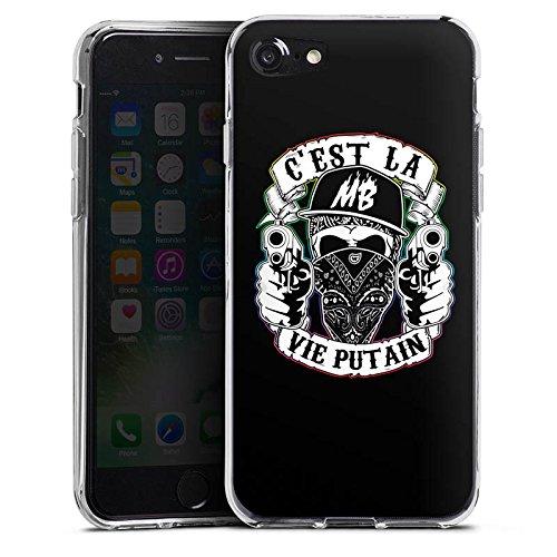 Apple iPhone X Silikon Hülle Case Schutzhülle Montanablack Fanartikel Merchandise C'EST LA VIE PUTAIN Silikon Case transparent