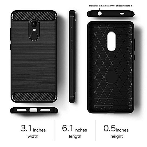wholesale dealer 59975 59e9d Redmi Note 4 Armor Case Phone Back Cover for Redmi Note 4 ,Metallic Black